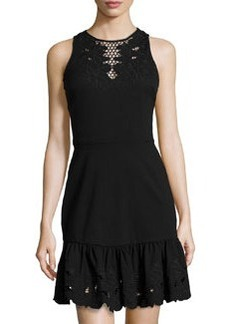 Cynthia Steffe Holland Sleeveless Cutout Dress, Rich Black
