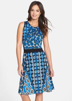 Cynthia Steffe Jacquard Knit Fit & Flare Sweater Dress