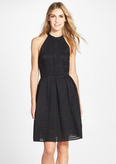 Cynthia Steffe 'Judith' Shadow Stripe Jacquard Fit & Flare Dress