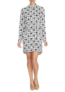 Cynthia Steffe 'Kate' Print Crepe Shirtdress