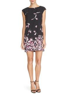 Cynthia Steffe 'Kelly' Petal Print Jersey Shift Dress