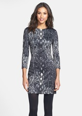 Cynthia Steffe 'Kendall' Lace Print Scuba Knit Dress