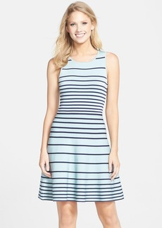 Cynthia Steffe 'Kyra' Stripe Fit & Flare Sweater Dress