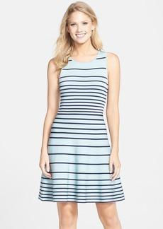Cynthia Steffe 'Kyra' Stripe Fit & Flare Sweater Dress