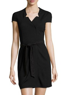 Cynthia Steffe Lace-Belt Wrap Dress
