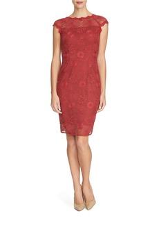 CYNTHIA STEFFE Lace Sheath Dress
