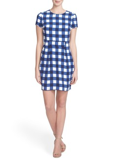 Cynthia Steffe 'Lana' Gingham Crepe Sheath Dress