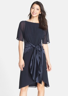 Cynthia Steffe 'Lilly' Tie Waist Chiffon A-Line Dress