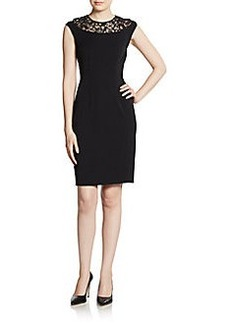 Cynthia Steffe Linsey Cap Sleeve Lace-Inset Dress