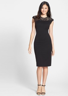 Cynthia Steffe 'Linsey' Lace Yoke Body-Con Dress