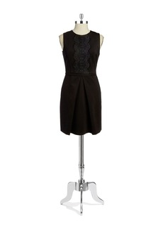 CYNTHIA STEFFE Liza Lace-Accented Sleeveless Dress