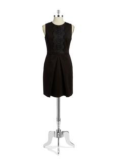 CYNTHIA STEFFE Liza Lace-Accented Sleeveless Dress