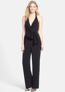 Cynthia Steffe 'Madison' Knot Front Crepe Halter Jumpsuit