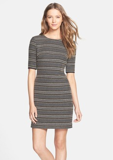 Cynthia Steffe 'Margo' Textured Stripe Sheath Dress