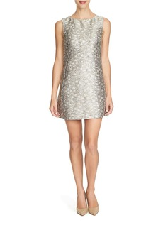 CYNTHIA STEFFE Metallic Jacquard Shift Dress