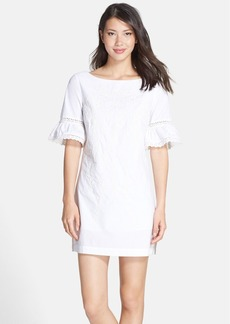 Cynthia Steffe 'Noelle' Embroidered Cotton Shift Dress