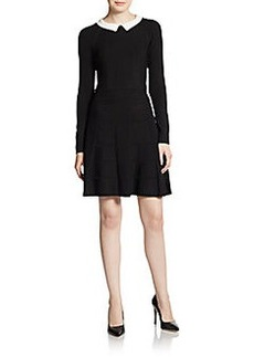 Cynthia Steffe Nola Knit Contrast-Collar Dress
