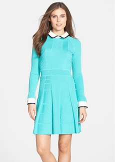Cynthia Steffe 'Nola' Textured Knit Fit & Flare Shirtdress