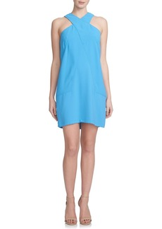 Cynthia Steffe 'Nora' Cross Neck Crepe Shift Dress