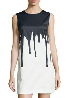 Cynthia Steffe Paint-Print Sleeveless Shift Dress