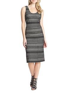 CYNTHIA STEFFE Patterned Sheath Dress