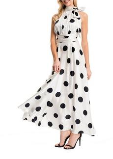 CYNTHIA STEFFE Polka Dot Maxi Dress