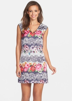 Cynthia Steffe Print Satin Shift Dress