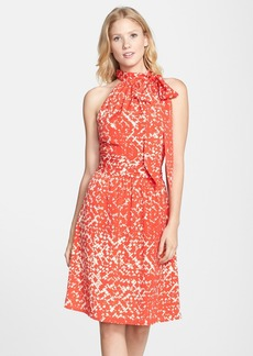 Cynthia Steffe Printed Crêpe de Chine Halter Dress