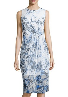 Cynthia Steffe Printed Sleeveless Midi Dress