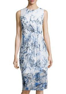 Cynthia Steffe Printed Sleeveless Midi Dress, Lilly White