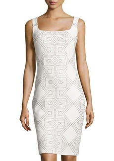 Cynthia Steffe Printed Square-Neck Sheath Dress