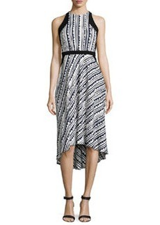 Cynthia Steffe Raelyn Sleeveless Printed High-Low Dress, Rich Black