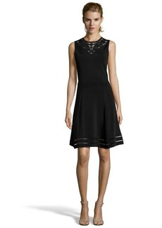 Cynthia Steffe rich black ponte knit 'Darcey' fit and flare dress