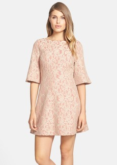 Cynthia Steffe 'Saira' Bell Sleeve Lace A-Line Dress