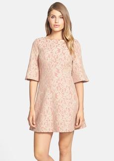 Cynthia Steffe 'Saira' Bell Sleeve Lace A-Line Dress