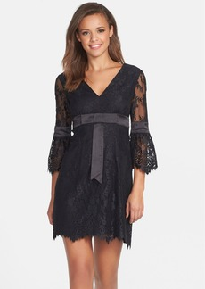 Cynthia Steffe Satin Trim Lace Babydoll Dress