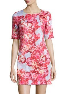 Cynthia Steffe Sebella Peony-Print Shift Dress, Pink