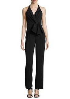 Cynthia Steffe Sleeveless Halter Jumpsuit, Rich Black