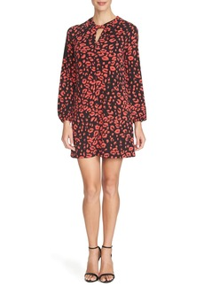 Cynthia Steffe 'Stella' Print Twist Neck Jersey Shift Dress