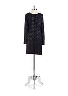 CYNTHIA STEFFE Studded Shift Dress