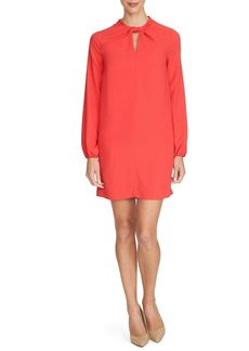 Cynthia Steffe 'Taylor' Twist Neck Crepe Shirt Dress