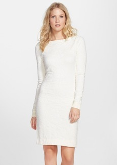 Cynthia Steffe Textured Long Sleeve Sweater Dress