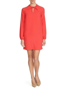 CYNTHIA STEFFE Twisted-Neck Shift Dress