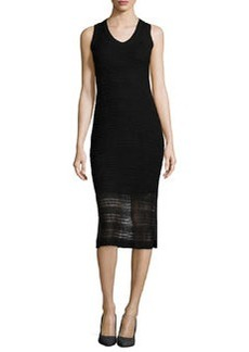 Cynthia Steffe V-Neck Crochet Midi Dress, Rich Black