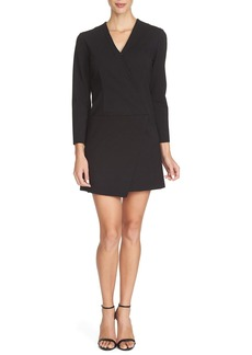 Cynthia Steffe 'Victoria' Ponte Faux Wrap Dress