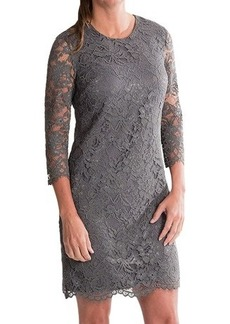 Cynthia Steffe Vida Lace Shift Dress - Long Sleeve (For Women)