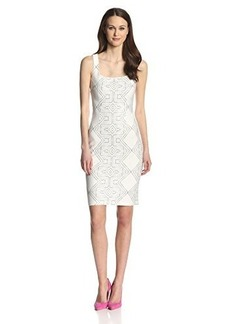 Cynthia Steffe Women's Eloise Printed Ponte Sheath Dress