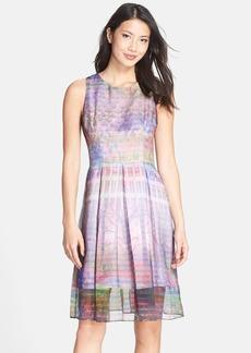 Cynthia Steffe 'Zabrina' Print Organza Fit & Flare Dress