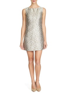 Cynthia Steffe 'Zoey' Metallic Jacquard Shift Dress