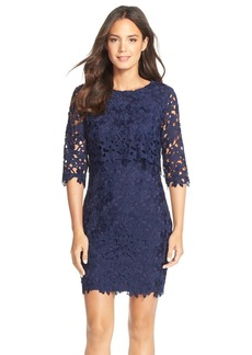 Cynthia Steffe'Audrey' Floral Lace Popover Dress